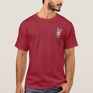 le T-shirt des hommes de longsleeve de chaton du