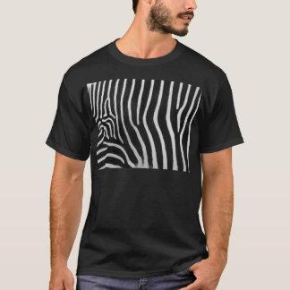 Le T-shirt des hommes de motif de rayure de zèbre