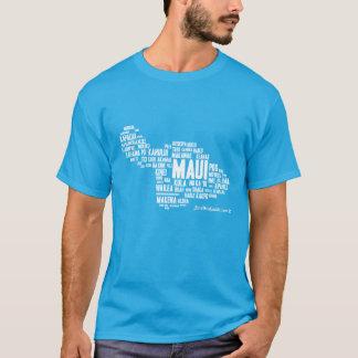 Le T-shirt des hommes de nuage de mot de Maui