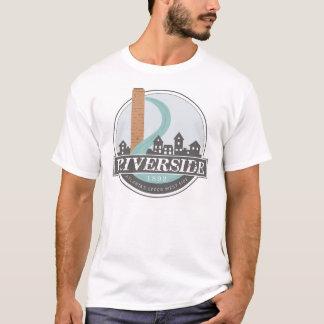 Le T-shirt des hommes de #riversideatl (blanc)