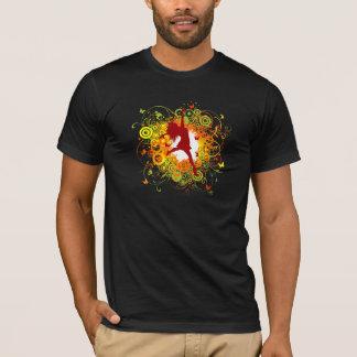 Le T-shirt des hommes de silhouette de danseur