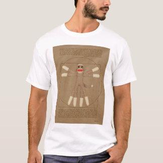 Le T-shirt des hommes de singe de Vitruvian