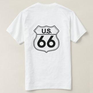 Le T-shirt des hommes de T-shirt de l'itinéraire