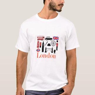 Le T-shirt des hommes de touristes de Londres