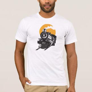 Le T-shirt des hommes de train de vapeur