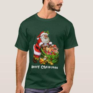 Le T-shirt des hommes de vacances de Père Noël de