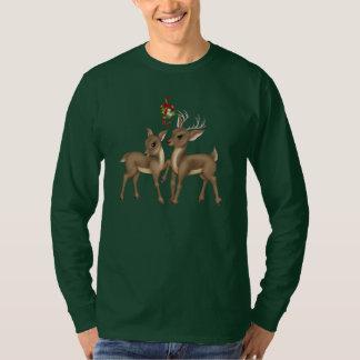 Le T-shirt des hommes de vacances de renne de Noël