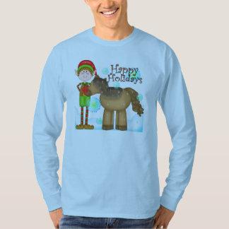 Le T-shirt des hommes de vacances d'elfe de Noël
