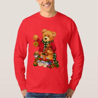 Le T-shirt des hommes de vacances d'ours de Noël