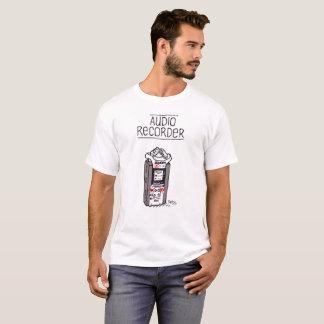 """Le T-shirt des hommes """"d'enregistreur audio"""""""