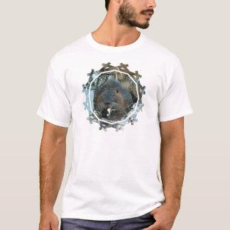 Le T-shirt des hommes d'habitat de castors
