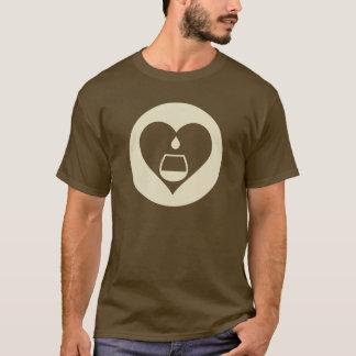 Le T-shirt des hommes graphiques crèmes de logo de