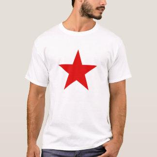 Le T-shirt des hommes rouges communistes d'étoile