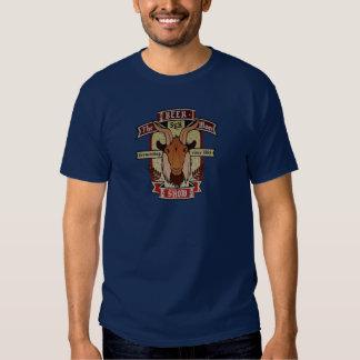 Le T-shirt d'étiquette de bière d'EXPOSITION