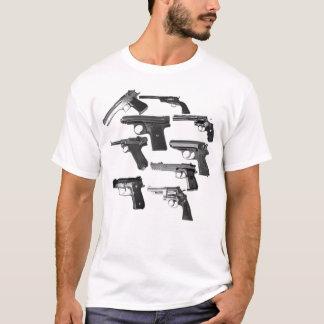 Le T-shirt d'hommes blancs d'artillerie d'arme à