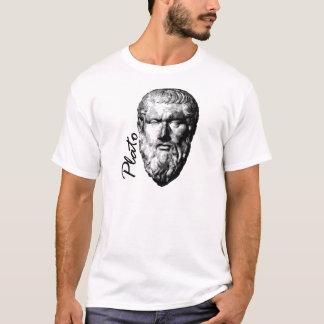 Le T-shirt d'hommes blancs de Platon de philosophe