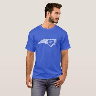 Le T-shirt d'I d'amour de la Caroline du Nord des