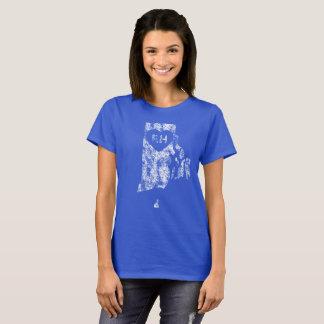 Le T-shirt d'I d'amour d'Île de Rhode des femmes