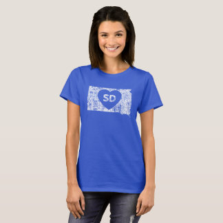 Le T-shirt d'I d'amour du Dakota du Sud des femmes