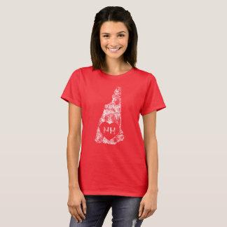 Le T-shirt d'I d'amour du New Hampshire des femmes