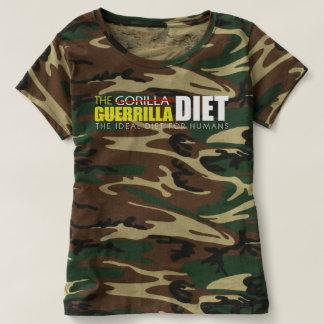 Le T-shirt du camouflage des femmes de régime de