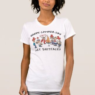 Le T-shirt du Canada des femmes heureuses très