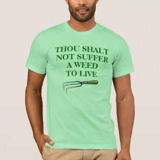Le T-shirt du jardinier, vert en bon état unisexe