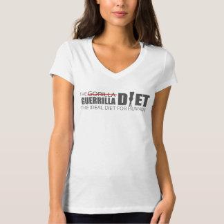Le T-shirt du V-Cou des femmes faites sur commande
