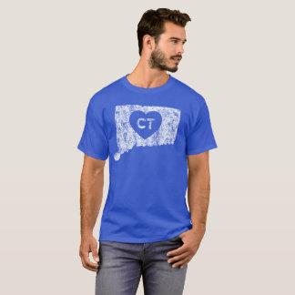 Le T-shirt foncé d'amour du Connecticut des hommes
