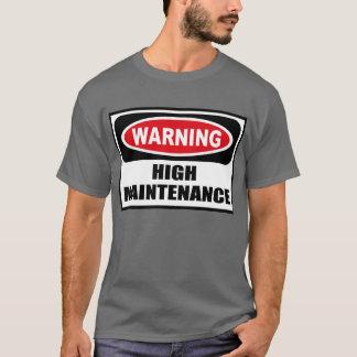 Le T-shirt foncé d'avertissement des ouvriers