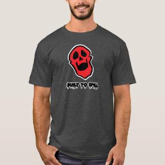 Le T-shirt foncé de base des hommes d'ami de crâne