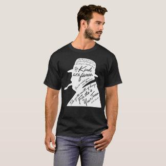 Le T-shirt foncé de base des hommes de Churchill