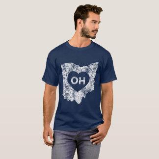 Le T-shirt foncé de base d'I d'amour de l'Ohio des