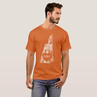 Le T-shirt foncé de base d'I d'amour des hommes