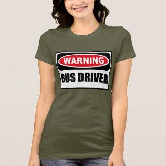 Le T-shirt foncé de BUS des femmes d'avertissement