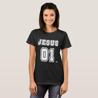 Le T-shirt foncé des femmes de Jésus 01. Jésus est