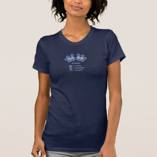 Le T-shirt foncé des femmes de molécule de l'éther