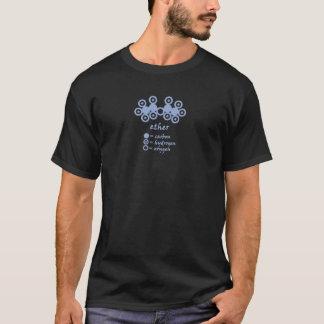Le T-shirt foncé des hommes de molécule de l'éther