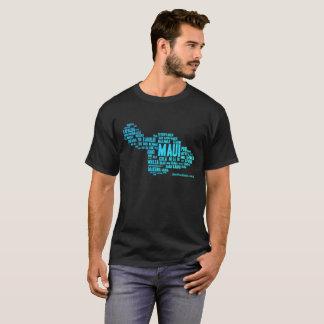 Le T-shirt foncé des hommes (nuage de mot)