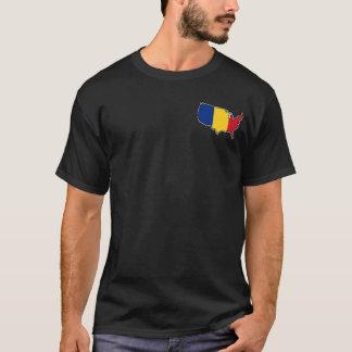 Le T-shirt foncé des hommes : Roumain aux