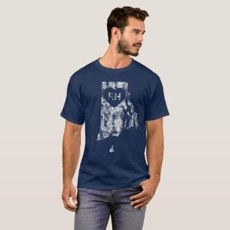 Le T-shirt foncé d'I d'amour d'Île de Rhode des