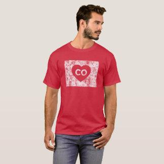 Le T-shirt foncé d'I d'amour du Colorado des