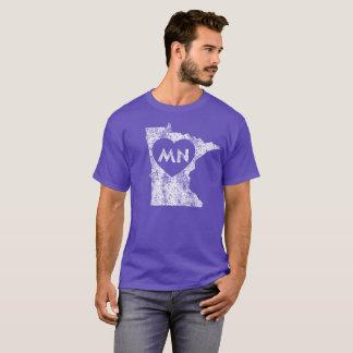 Le T-shirt foncé d'I d'amour du Minnesota des