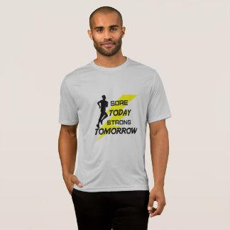 Le T-shirt fonctionnant des hommes : Blessure