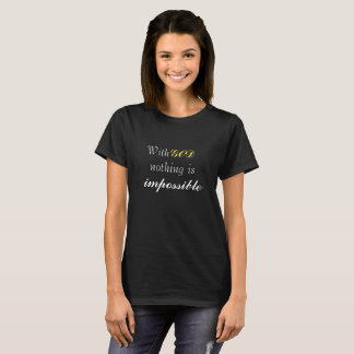 Le T-shirt graphique chrétien des femmes