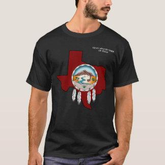 Le T-shirt noir de base des hommes du Texas de