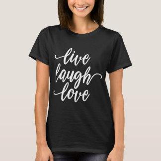 Le T-shirt noir de rire de cool d'amour des femmes