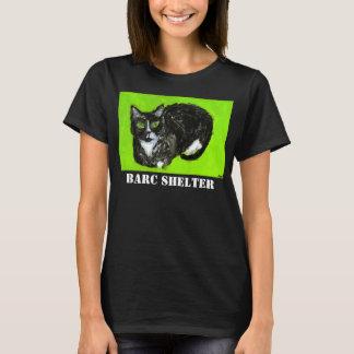 Le T-shirt noir des femmes d'abri de BARC