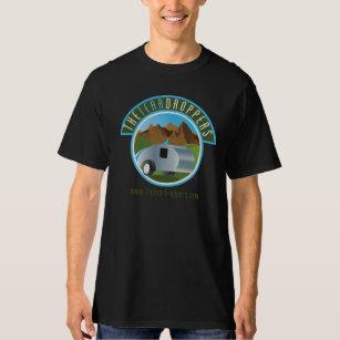 Le T-shirt noir des hommes de remorque de larme