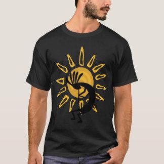 Le T-shirt noir des hommes de Sun d'or de